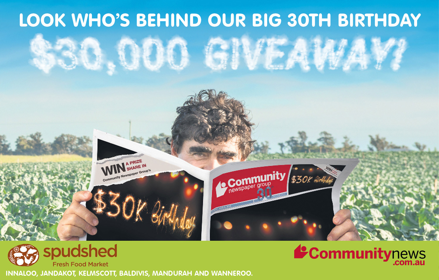 Win a share of $30,000!